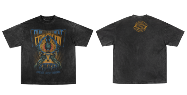 Front and Back of band tee